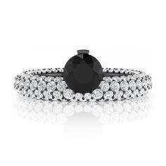 Engagement Rings - black Diamond - Luxury Jewellery