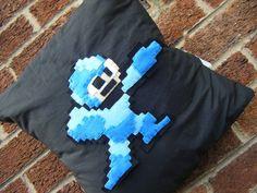 Megaman robot hero capcom blue retro video game pillow cushion gift