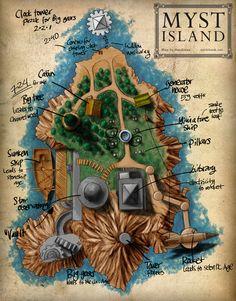 Original Myst Island Map