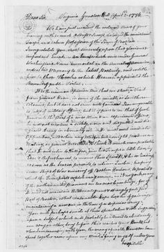Letter from Mason to George Washington congratulating him on victory at Boston, April 1776.