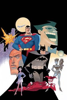 Batman and Superman Adventures: World's Finest - The Official Comic Adaptation cover by Bruce Timm
