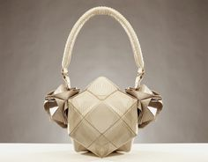 The Morpholision (Morphology + Vision) bag collection is inspired by forms of nature and sonobe – a Japanese paper folding method. - designed by Si Kim (graduated of London College of Fashion)