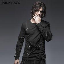 New~Punk Rave Luxury Mens Stylish long sleeve t-shirt Casual Motocycle Top t426
