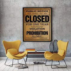 US Government Prohibition Poster Reproduction Home Decor Retro | Etsy