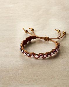 deepa gurnani golden leather melanie bracelet
