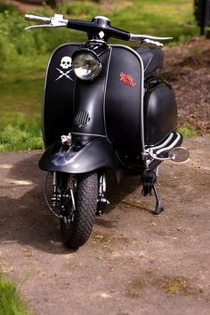 Black #vespa with attitude | #DeathProof