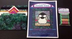 Quilting Fabric & Pattern Kit Chickadee Dreams Wall Quilt Bigfork Bay Thread Set #BigforkBayCottonCompany