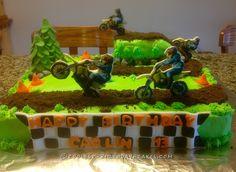 Let's Ride Dirt Bike Track Cake... Coolest Birthday Cake Ideas