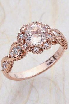 18 Morganite Engagement Rings Were Are Obsessed With ❤ See more: http://www.weddingforward.com/morganite-engagement-rings/ #wedding #engagement #rings