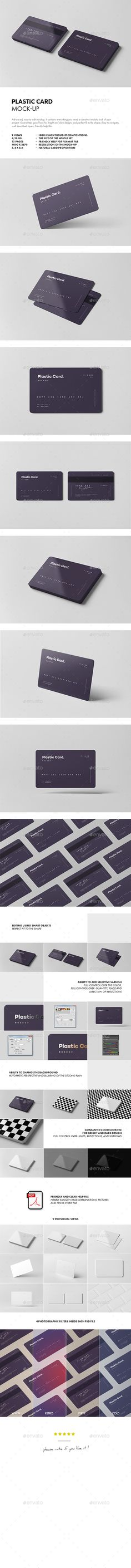 Plastic #Card #Mock-up - Business Cards Print
