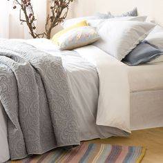 Two-tone Dyed Thread Seersucker Bed Linen