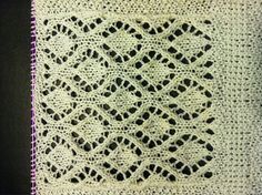 this is a trellis diamond lace pattern variant of Mrs. Montague's pattern…a quick knit…could easily be a beautiful scarf or center ground of a square shawl…xox Mary Ellen