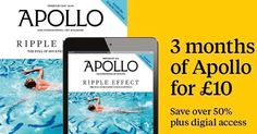 Try 3 months of Apollo for only 10! Subscribe now to the world's most prestigious art magazine.  Link in bio