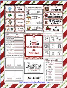 Vocabulario de Navidad  MAY LAD TO GOOD SITES, THIS NICE