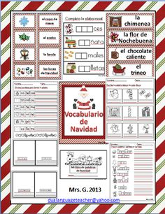 Vocabulario de Navidad  MAY LAD TO GOOD SITES, THIS NICE