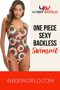 Whether you're lounging in the sun on the beach, or stepping into a hot tub under the stars, the Women's sexy One Piece Sexy Backless Swimsuit is your one-stop outfit. The plunging neckline to the flattering open back, this one-piece has a chic look that fits in well with any crowd. The fabric is ribbed to gently hug all of your curves, giving you a fit that appears custom-made for you right out of the package. #swimsuit #swimwear #beachwear #onepieceswimsuit #onepieceswimwear… Women's One Piece Swimsuits, Under The Stars, One Piece For Women, Plunging Neckline, Amazing Women, Crowd, Hug, Beachwear, Looks Great