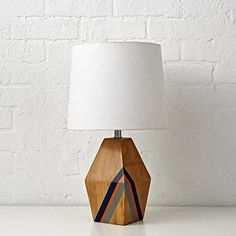 would be cute for the Basement - at a side table or somewhere - like the combo of the navy/red orange and grey