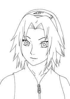 sakura haruno from naruto anime coloring pages for kids printable free