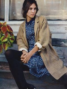 Alexa Chung. Coat. Right there. Yep. You have boyfriend denim, i'd call that one boyfriend shirt-turned-into-coat!
