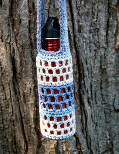 10 Water Bottle Holders - free crochet patterns