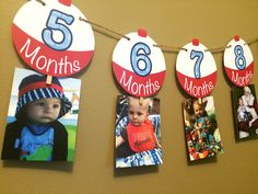 1 - 12 Month Fishing Bobber Photo Banner - Fishing Birthday Theme -  1st Birthday - Printed by PrettyPaperBoutique2 on Etsy