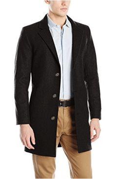 Nautica Men's 3 Button Wool Blend 37 Inch Topcoat, Black, 42 Regular: Nautica men's 37 inch with modern fit and shorter length Topcoat Men, Mens Wool Coats, Mens Raincoat, Mens Clothing Styles, Men's Clothing, Jacket Style, Jackets For Women, Men's Jackets, Fleece Jackets