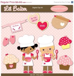 50 OFF SALE Instant Download Lil Baker by SpringHillGraphics