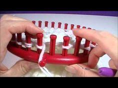 ▶ Muts breien op breiring - YouTube