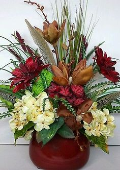 Floral Flower Arrangement Multi Color Handmade Rustic Western Country Tuscan