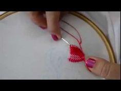 تعلمى تطريز المفروشات يدويا بطريقة سهلة - YouTube