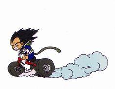 Vegeta kid by Akira Toriyama Published by Shueisha group / Studio Bird from Dragon Ball manga