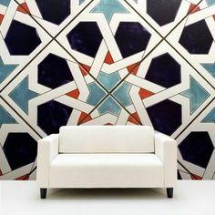 oversized Moroccan tile wall