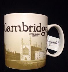 Starbucks Cambridge Mug UK Bicycle Kings College Senate Chapel England New Ouse