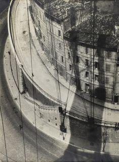 "arsvitaest:  "" Herbert Bayer, View from the Ferry, Marseille, 1928, gelatin silver print  source  """
