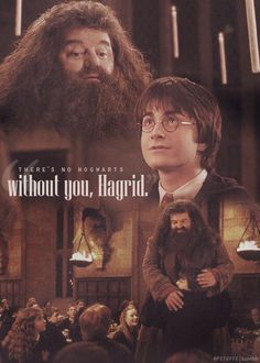 "May 30, 1993: Hagrid returns to Hogwarts after being in Azkaban. ""There's no Hogwarts without you, Hagrid."""