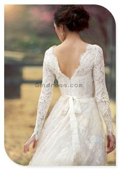 lace wedding dress. Long sleeve for cold weather