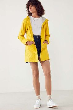 Shop Herschel Supply Co. Forecast Rain Coat at Urban Outfitters today. We carry all the latest styles, colors and brands for you to choose from right here. Baby Raincoat, Raincoat Outfit, Raincoat Jacket, Yellow Raincoat, Hooded Raincoat, Rain Jacket, Cute Raincoats, Raincoats For Women, Costumes