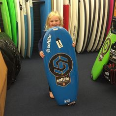 Another happy little grom Marli ready to catch some waves. Won't be long before she's wanting to head away on surf trips with Dad! #THESURFCO #cute #shoplocal #surfboards #grom #kidsboards #shop #warrnambool #waves by thesurfco