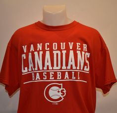 Vancouver Canadians Baseball T-Shirt Vancouver Canadians, Baseball Shop, Minor League Baseball, Uniform Design, Toronto Blue Jays, Mens Tops, T Shirt, Supreme T Shirt, Tee