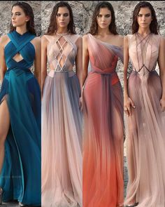 1 2 3 or 4 ? dresses by . Evening Dresses, Prom Dresses, Formal Dresses, Bridesmaid Dresses, Elegant Dresses, Pretty Dresses, Fantasy Gowns, Blouse Dress, Beautiful Gowns
