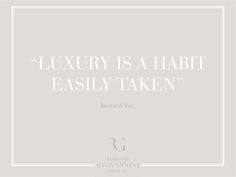 The luxury is an habit that it is taken out easily Bertrand Vac #RobertoGiovannini