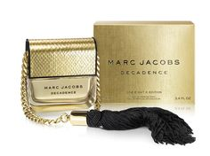 Marc Jacobs Decadence One Eight K Edition... Sensual woody fragrance. Its top notes include Italian plum, iris and golden saffron. Bulgarian rose, orris root and jasmine sambac create an exotic bouquet at the heart, supplemented with sensual notes of liquid amber, papyrus wood and vetiver.