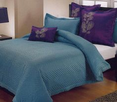Beautiful Teal and Purple bedding set...guest room?