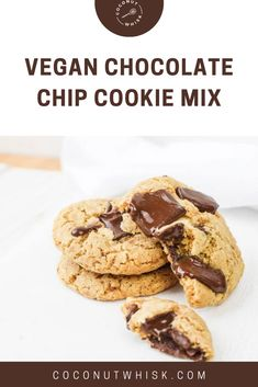 One of the most classic treats out there, our Vegan Chocolate Chip Cookie Mix will provide a delicious vegan Sweet Recipes, Vegan Recipes, Vegan Chocolate Chip Cookies, Healthy Desserts, Healthy Food, No Bake Cookies, Taste Buds, Gluten Free, Yummy Food