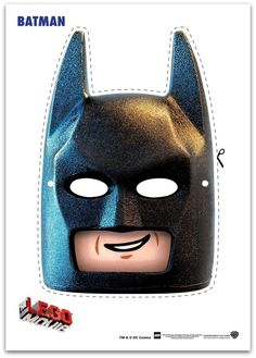 9 Easy to make Free Lego Movie Printable Masks! These Include Emmet, Batman, Wyldstyle, SuperWoman and more. These Masks are perfect for 3 to 10 year olds. Lego Movie Party, Lego Batman Party, Fiesta Batman Lego, Lego Batman Cakes, Lego Batman Birthday, Lego Birthday Party, Superhero Party, Birthday Parties, Boy Birthday