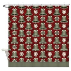 Christmas Holiday Bells Shower Curtain D34