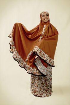 muslim mukena (prayer outfit)