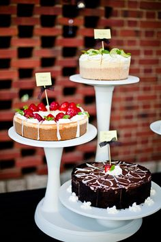 Opt for a dessert buffet instead of a large traditional wedding cake to save a few bucks.