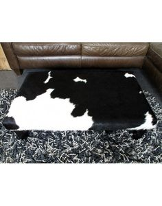 Large black and white cowhide footstool, luxurious, hand made cow hide footstools in wide range of sizes and designs Large Black, Black And White, Cow Hide, Stool, Range, Board, Handmade, Design, Home Decor