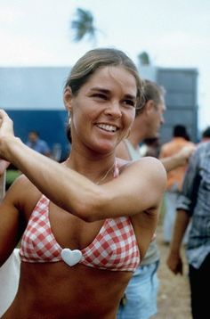 Ali MacGraw on the set of Papillon, Jamaica, 1972.